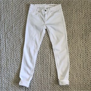Blank NYC White Low Rise Skinny Jeans